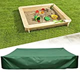Flurries  Thick Sandbox Cover with Drawstring - Sandpit Cover - Pool Cover - Hot Tub Cover Accessories - UV Protection Waterproof Dustproof Easy Clean Green on Top Lid for Kid (78.74'X78.74')