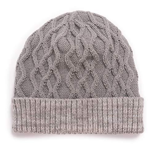 MUK LUKS Men's Cable Knit Cuff Cap, Ash, OSFM