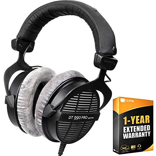 beyerdynamic 459038 DT-990-Pro-250 Professional Acoustically Open Headphones 250 Ohms Bundle with 1 Year Extended Warranty Arizona