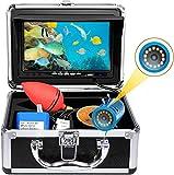 okk Cámara de Pesca subacuática,Monitor TFT de 7 Pulgadas 12 Piezas LED 1000TVL buscador de Peces HD con Bolsa de Transporte cámara de vídeo de Pesca Impermeable