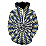 Autumn Personality Vortex 3D Printed Hooded Sweater Fashion Hooded Sweater