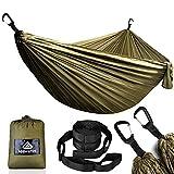 NATUREFUN Hamac Camping Voyage Ultra léger | Capacité de Chargement de 300kg, (300 x 200 cm) resprant, Nylon Parachute séchage...