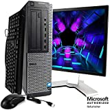 Dell Optiplex 990 Desktop Computer Package - Intel Quad Core i5 3.1-GHz, 16GB RAM, 2 TB, DVD-RW Drive, 20 Inch LCD Monitor, Keyboard, Mouse, WiFi, Bluetooth, Windows 10 (Renewed)