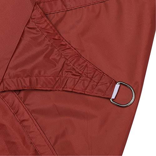 Vine Toldo rectangular de tela 98% UV bloqueador impermeable con cuerda, resistente al viento y al polvo, toldo para patio, jardín, piscina, pérgola patio trasero, color rojo óxido 3 x 4 m