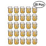 YeahiBaby Blinky Brosche LED Licht Bier Becher Form Abzeichen Bar Party Oktoberfest Deko 25 Stück...