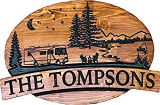 Personalized Engraved RV or Camper Sign
