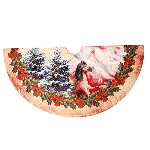 TENER Kerst Decoratie 120cm Vintage Kerstmis Boom Rok Voor Thuis Vakantie Feest Rode Kerstman Fluwelen Kerstboom Rokken 48 inch