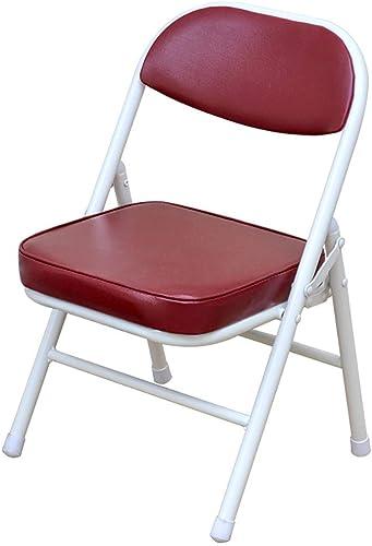 SCJS Chaise Pliante Portable de Voiture de Loisir en Plein air Chaise de Retour pour la Maison, siège de Chaussure Tabouret de Table Court (33,5 cm; 31,5 cm; 52 cm) (Couleur  Bleu)