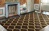 Ottomanson Royal Collection Contemporary Moroccan Trellis Design Area Rug, 7'10' X 9'10', Brown