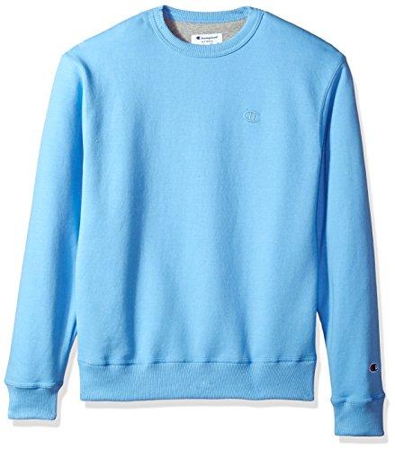 Champion Men's Powerblend Fleece Pullover Sweatshirt, Swiss Blue, X Large
