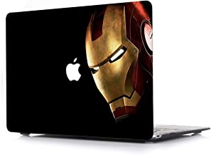 MacBook Pro New 13 Inch Hard Case - RQTX Plastic Laptop Computers Accessories Protective Hero Design Cover for Apple MacBook Pro New Model A1989/A1706/A1708 Retina Display with Touch Bar,Iron Man
