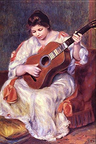 El Museo de salida – chica tocando la guitarra de Renoir ...