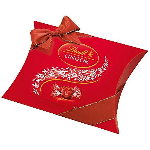 Lindt Lindor Kissenpackung Milch Schokoladenkugeln in Rot (4x325g)
