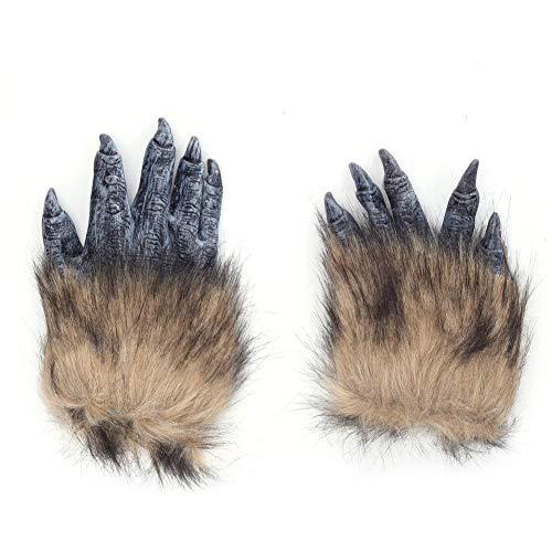 lingzhuo-shop Latex pluche handschoenen wolf handschoenen Halloween Kerstmis carnaval bar rekwisieten biest kostuum passende handschoenen