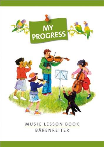 My Progress - Music Lesson Book - Aufgabenheft Mit Stickerbogen. Für Violine