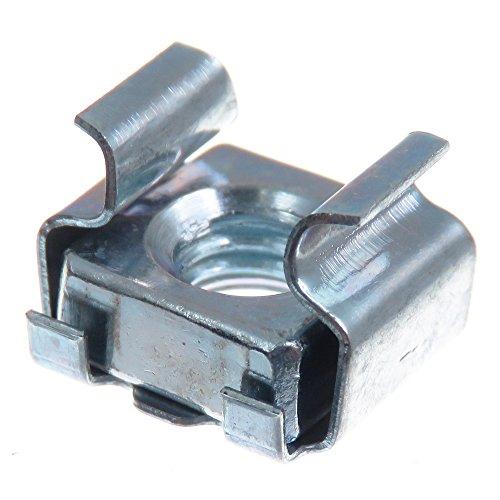 SECCARO Écrou cage M6, pour montage en rack, acier galvanisé, 20 pièces