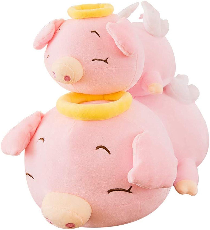 LAIBAERDAN Engel Schwein Plüschtier Groe Puppe Schwein Puppe Mdchen Kissen Geburtstagsgeschenk 38-48-58Cm, 58Cm