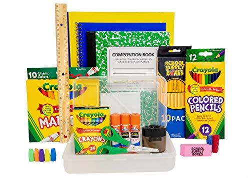 Back To School Supply Box Grades K-5 - School Supply Kit Back To School Essentials - 32 Pieces