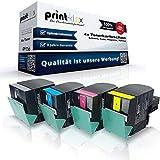 Print-Klex - Juego de tóner (compatibles con Lexmark C540N C543DN C544DN C544DTN C544DW C544N C546DTN C540H2KG C540H2CG C540H2MG C540H2YG)