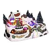 Villaggio di Natale luminoso Treno delle nevi