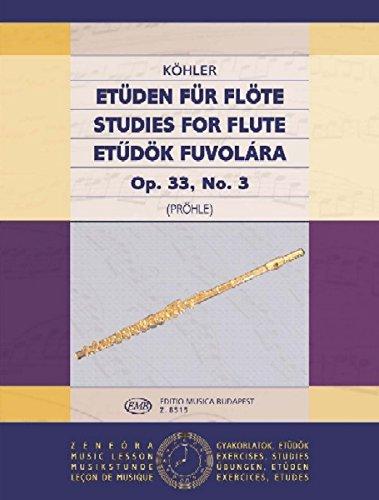 Etüden für Flöte 3 op. 33, No. 3 - Flute - Buch