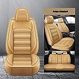 SUNQQJ Fundas Asientos Coche Universales para Land Rover Todos Los Modelos Rover Range Evoque Sport Freelander Discovery 3 4 5Accesorios Coche, Estándar Beige