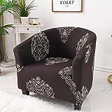 Eantpure Juego de sofá Individual de café elástico Todo Incluido, sofá pequeño para el hogar, Juego de sillas-Midnight Snow Lotus_Code