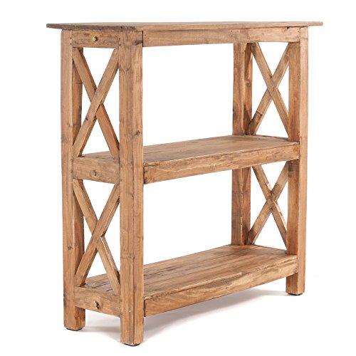 DESIGN DELIGHTS MASSIVHOLZ Regal ELBA 92 | 90x92x33cm(BxHxT), Extra tiefes Holzregal aus Vollholz, stabiles Küchenregal, Schuhregal, Bücherregal