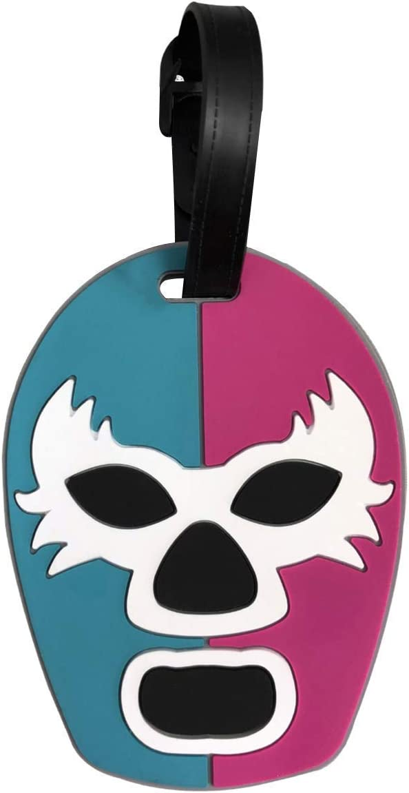 By Mexico Lucha Libre Mesa Mall Wrestling Mask Luggage Tag Luc Super special price Máscara