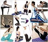 Sconosciuto Yoga Strap Cinture Durevole Cotone Pilates Stretching Cintura Ideale per riporvi Pone per Migliorare la flessibilità e Fisioterapia