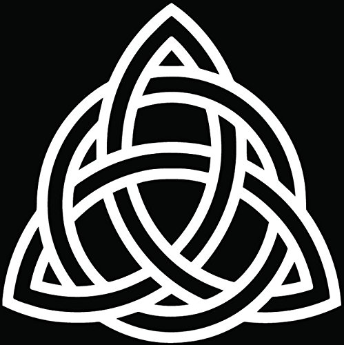 Triquetra Celtic Knot Pagan Symbol Car Truck Window Bumper Vinyl Graphic Decal Sticker- (6 inch) / (15 cm) Tall GLOSS WHITE Color