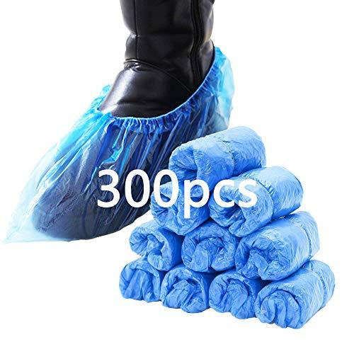 Schuhüberzieher Einweg, 300 Stück, rutschfest und langlebig ,blauen Einweg-Überschuhen ist staubdicht und schmutzabweisend, halten den Raum/das Auto/den Teppich sauber Für Familien und Outdoorreisen
