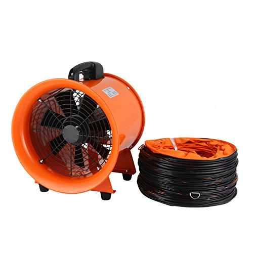 Mophorn Ventilador Profesional para Construcción 2295CFM Ventilador de Piso Industrial 220 V Ventilador de Tambor 3300RPM 0.7HP con Tubo Flexible