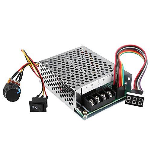 DC Motor Drehzahlregler, DC10V-55V PWM Reversible Motor Controller Schalter mit Digitalanzeige