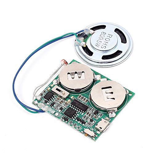 Icstation DIY Light Sensor Sound Module Micro USB Music Player for Talking Greeting Card Creative Gifts 8M Memory w/Speaker