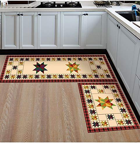 HLXX Alfombrillas de Cocina Antideslizantes de Estilo Simple, alfombras de Sala de Estar, Alfombrillas de baño, alfombras de Dormitorio, Alfombrillas de Noche A13 50x80cm