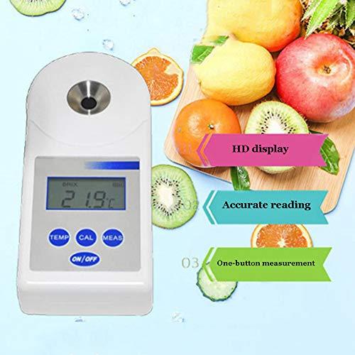 XFY Refraktometer, Digitaler Zuckerzähler, Lebensmittelindustrie Landwirtschaft Saft Zuckergehalt Refraktometer, mit Automatischer Temperaturkompensation