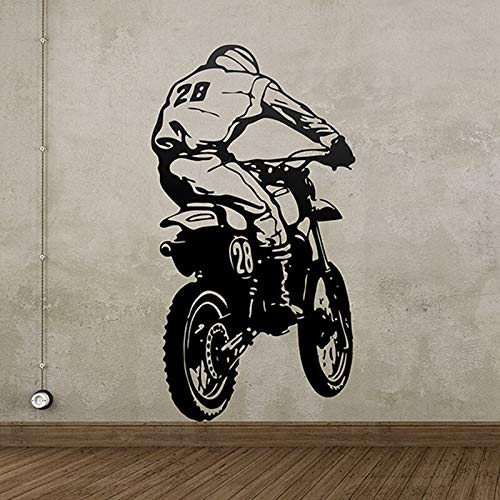 yaonuli Calcomanías de Motocicletas Todo Terreno calcomanías de Pared de Vinilo murales Decorativos calcomanías de Carreras de Motos extremas 82X50cm