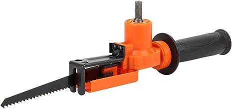 Taladro eléctrico que ahorra mano de obra, adaptador de sierra recíproca de fácil conexión, hoja de sierra para cortar madera, cortar tubos de metal