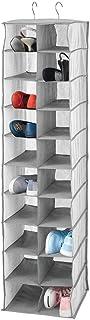 mDesign Meuble Suspendu avec 20 Compartiments – Grand Meuble de Rangement pour la Tringle de l'armoire – Rangement Chaussu...