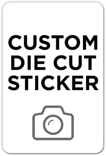 """500 Rectangle Custom Die Cut Stickers 2"""" x 3"""" for Laptops, Windows, Cell Phones, Cars. Upload Your own Image, Logo, or Des..."""