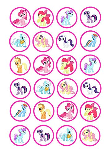 Toppershack 12 x decoraci/ón para pasteles comestibles PRECORTADAS de My little Pony Equestria Girls