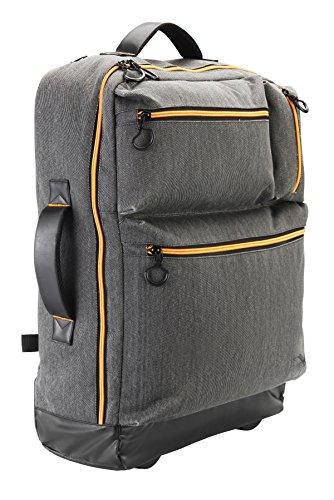 Cabin Max Oxford Trolley 55x40x20cm Válida como equipaje de mano – Trolley/mochila multifunción (Gris)