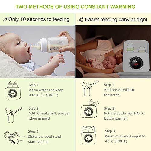 Bable Flaschenwärmer丨Sterilisator für Babyflaschen丨Babykostwärmer丨Multifunktionale Baby Flaschenwärmer mit Ernährungsschutz-Technologie and LCD Bildschirm - 4