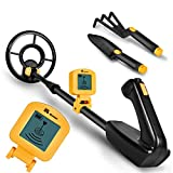 RM RICOMAX Metal Detector for Kids - 7.4 Inch Waterproof Kid Metal Detectors Gold Detector Lightweight Search Coil (24'-35') Adjustable Metal Detector for Junior & Youth with High Accuracy - Yellow