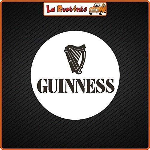 La Ruotante 2 stickers Guinness Bier (Vinyl) auto motorfiets Vespa fietshelm 12x12 Cm