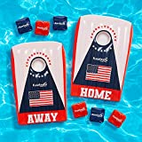 Floatastic USA Pool Cornhole Game - Bean Bag Toss Floating Cornhole Inflatable Pool Toys - Ultimate Fun for Pool Party & Beach - American Flag Set of 2 Boards & 6 Bean Bags - for Adults & Kids
