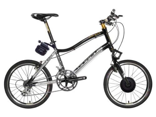 Dorcus Bicicleta eléctrica DC-1 Emotion 20G 20 pulgadas, plateado/negro, batería de 24 V/11,6 Ah