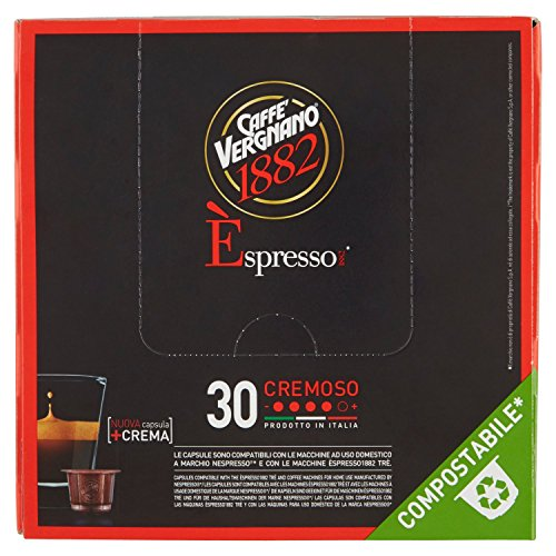 Caffè Vergnano 1882 Èspresso1882 Cremoso - 30 Capsule - Compatibili Nespresso