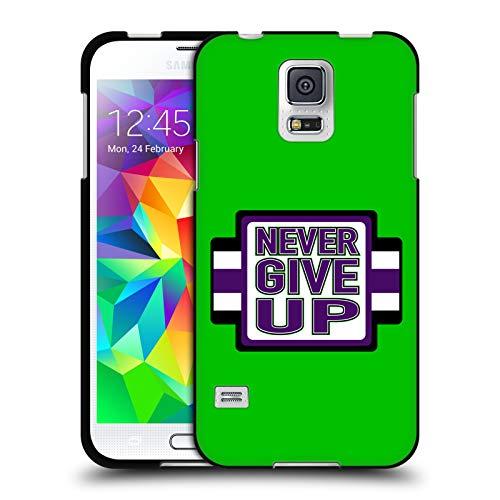 Head Case Designs Offizielle WWE John Cena Never Give Up 2018/19 Superstars 4 Schwarze Soft Gel Huelle kompatibel mit Samsung Galaxy S5 / S5 Neo